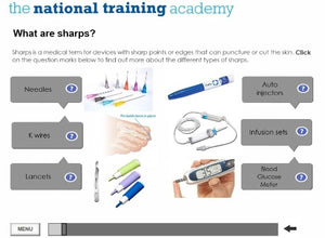 Needles and Sharps Training Online Training - screen shot 3