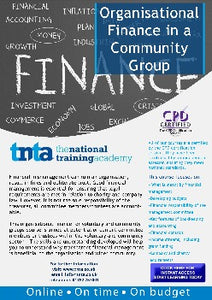 Organisational Finance for Community Groups Online Training