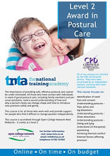 Load image into Gallery viewer, Postural care flyer