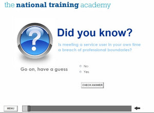 Professional Boundaries Online Training - screen shot 2