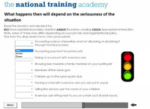 Professional Boundaries Online Training - screen shot 3