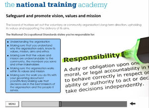 Role of a Management Committee Online Training screen shot 3