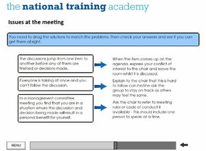 Role of a Management Committee Online Training screen shot 6