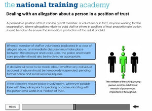 Safeguarding Designated Person Online Training screen shot 4
