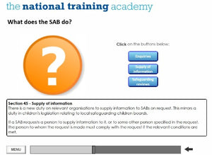 Safeguarding Designated Person Online Training screen shot 5