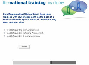 Safeguarding Designated Person Online Training screen shot 7