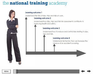 Slips, Trips and Falls Online Training screen shot 1