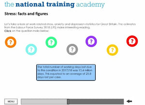 Stress Awareness in the Workplace Online Training - screen shot 3