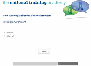 Stress Awareness in the Workplace Online Training - screen shot 7