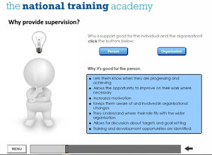 Support and Supervision of Staff Online Training screen shot 3