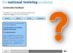 Support and Supervision of Staff Online Training screen shot 6