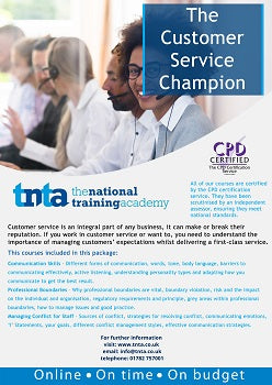 Customer service champions online training