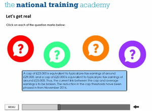 Welfare Reform and Work Act 2016 Online Training screen shot 4