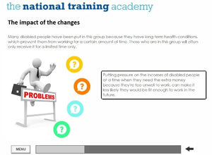 Welfare Reform and Work Act 2016 Online Training screen shot 6