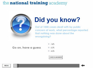 Whistleblowing Awareness Online Training screen shot 2