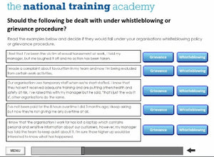 Whistleblowing Awareness Online Training screen shot 4