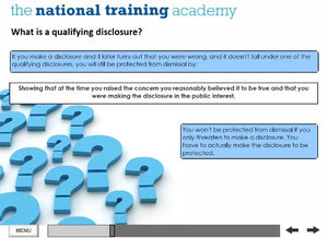 Whistleblowing Awareness Online Training screen shot 5