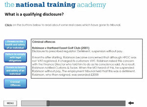 Whistleblowing Awareness Online Training screen shot 6
