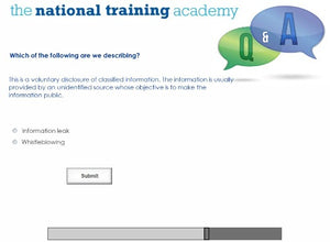 Whistleblowing Awareness Online Training screen shot 7
