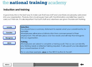 Writing a Staff and Volunteer Policy Online Training screen shot 3