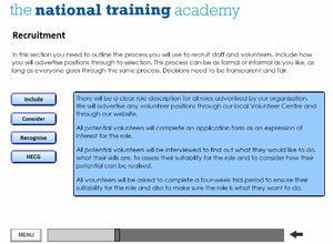 Writing a Staff and Volunteer Policy Online Training screen shot 4
