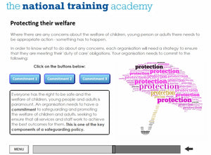 Developing safeguarding policies and procedures online training screen shot 3