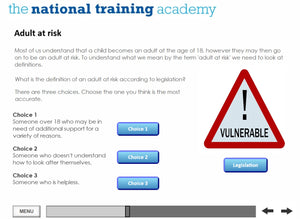 Developing safeguarding policies and procedures online training screen shot 4