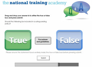 Developing safeguarding policies and procedures online training screen shot 7