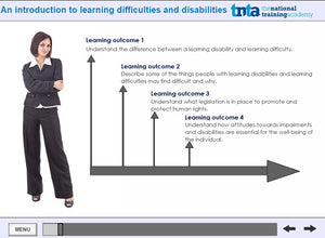 Learning disabilities awareness course  screen shot 1