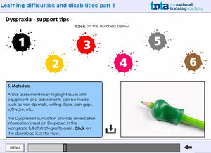 Learning disabilities awareness course  screen shot 3