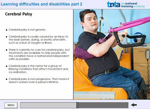 Learning disabilities awareness course  screen shot 4