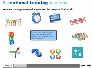 Management and Recovery of Rent Arrears Online Training screen shot 5
