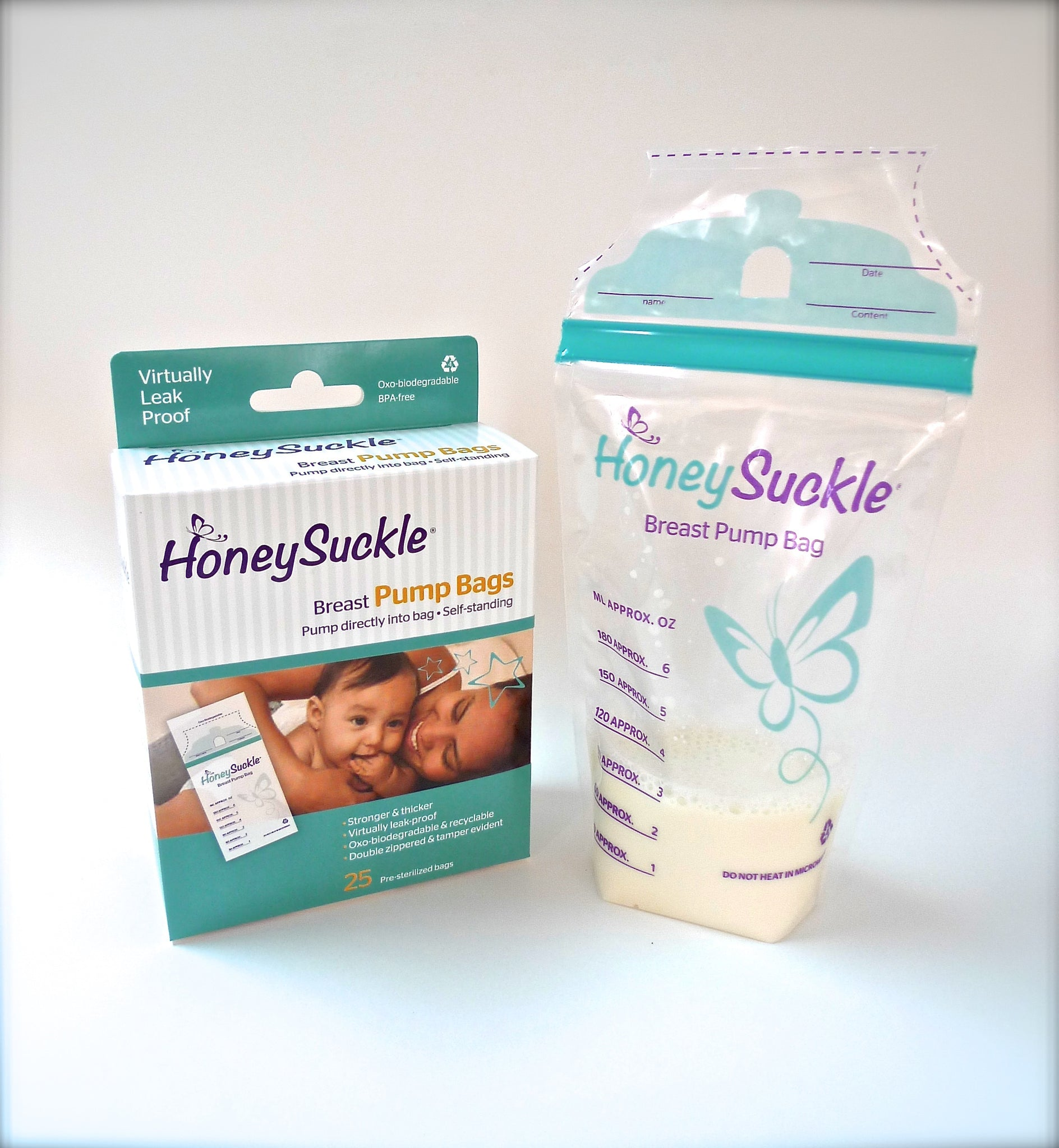 Honeysuckle Breastpump Milk Bags 6-oz