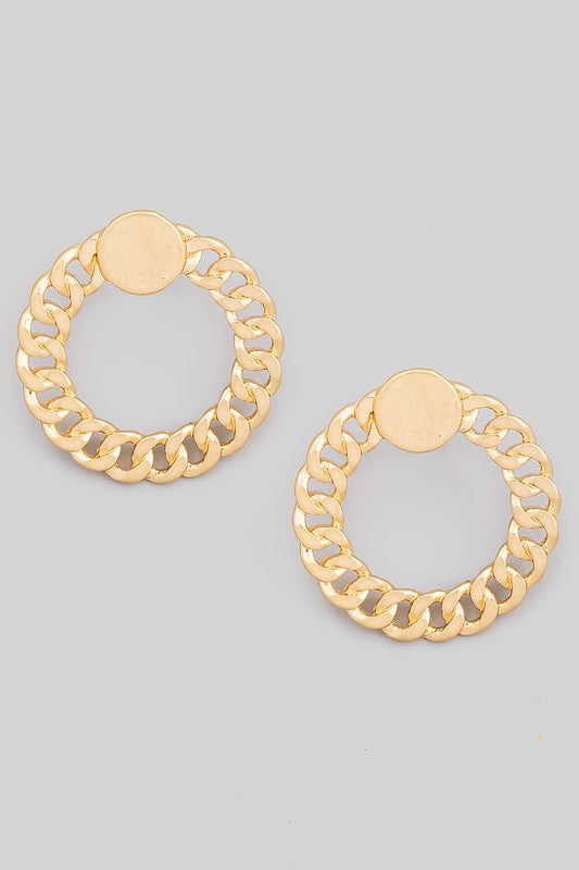 Flat Chain Link Earrings
