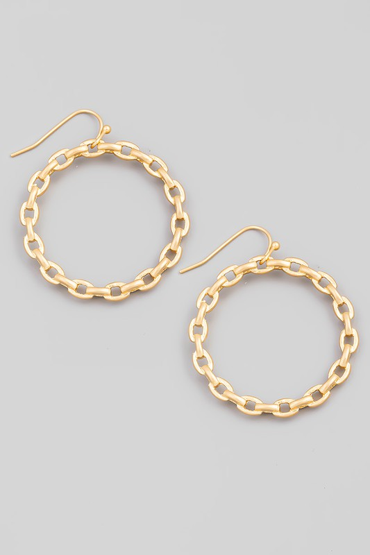 Chain Drop Hook Earrings