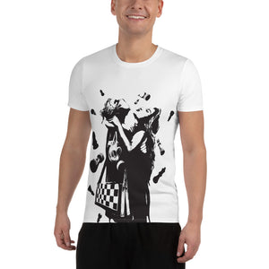 Peace - All-Over Print Men's Athletic T-Shirt