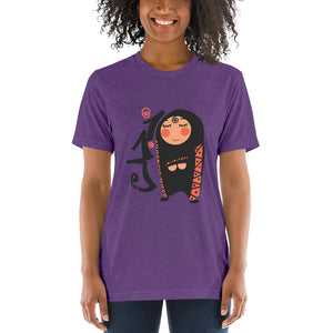 Shyness - Bella + Canvas 3413 Unisex Triblend Short Sleeve T-Shirt with Tear Away Label
