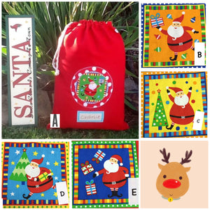 PERSONALISED CHRISTMAS SANTA SACK - Mama Bear