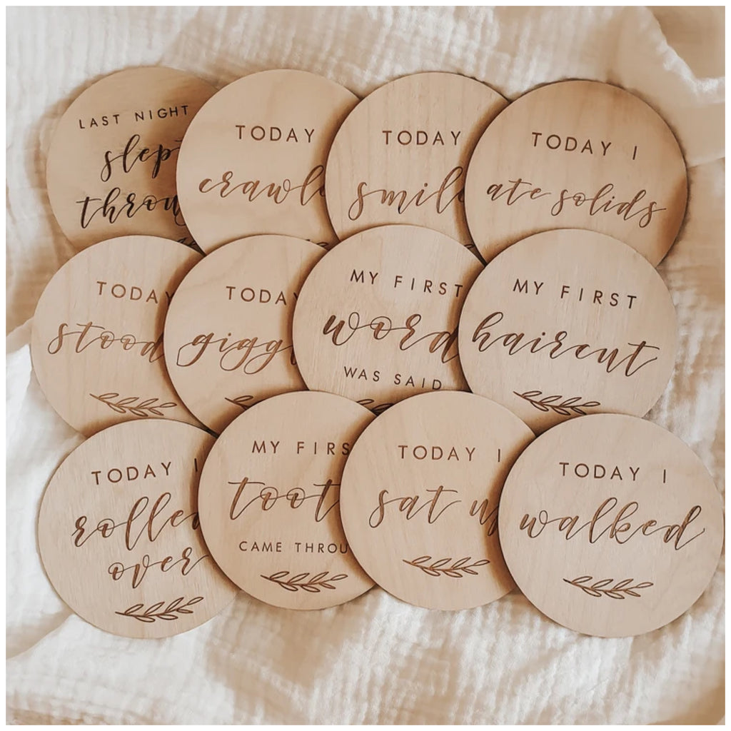 Wooden Baby Moment Collection - Set of 12