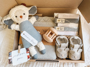 Lambie & Blankie Exclusive Giftbox | Blue Stripe
