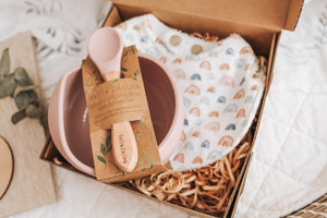 Bowl & Bib Set - Rainbow
