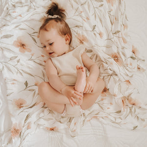Bamboo Cotton Swaddle - Blossom | Blossom & Pear