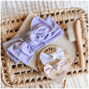 Hairbow & Brush Set | Light Purple