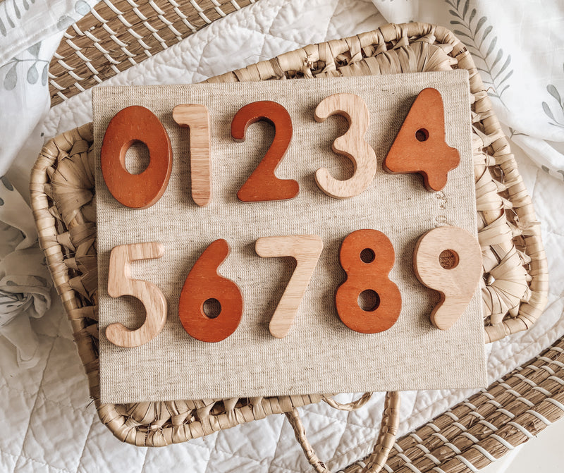 Wooden Number Set | 0-9