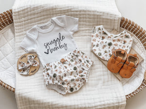 Nappy Pant & Onesie Set | Snuggle Bunny Woodland Animal (Unisex)