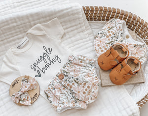 Nappy Pant & Onesie Set | Snuggle Bunny Pastel Meadow