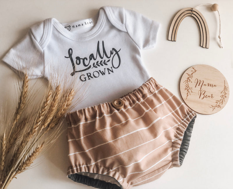 Nappy Pant & Onesie Set - Locally Grown - Mama Bear