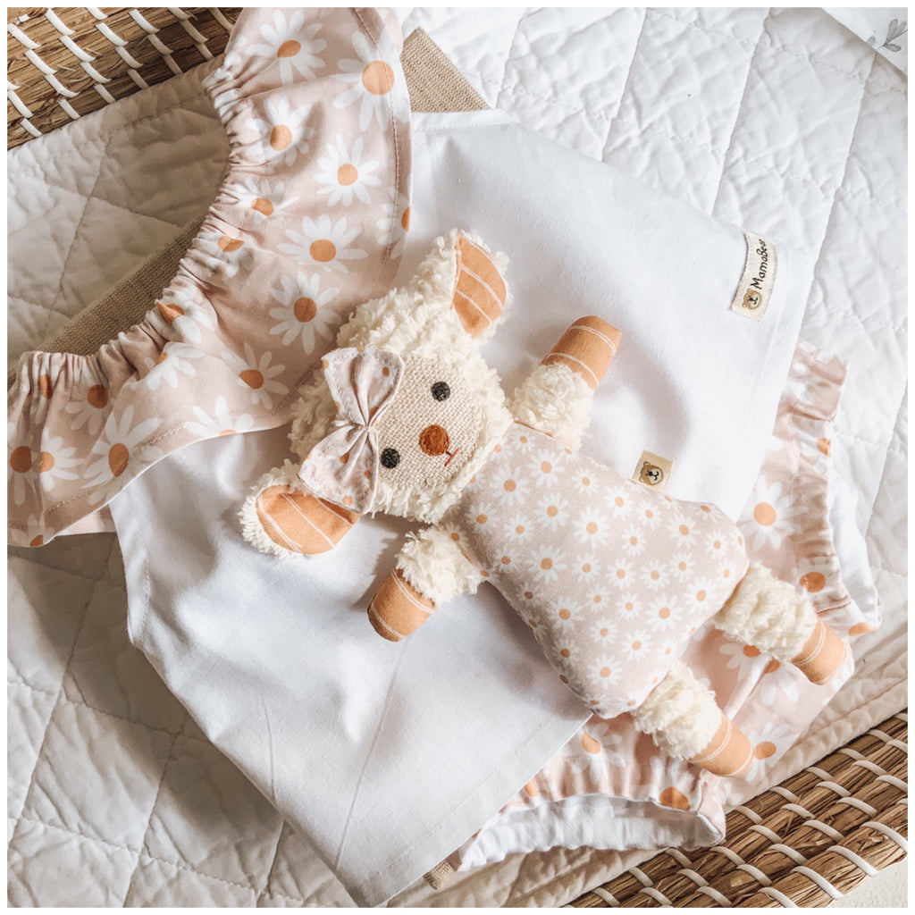 Lambie & Ruffle Swing Top & Nappy Pant Set | Blush Daisy