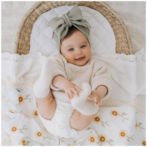 Sunflower Fringe Swaddle | Ziggy Lou