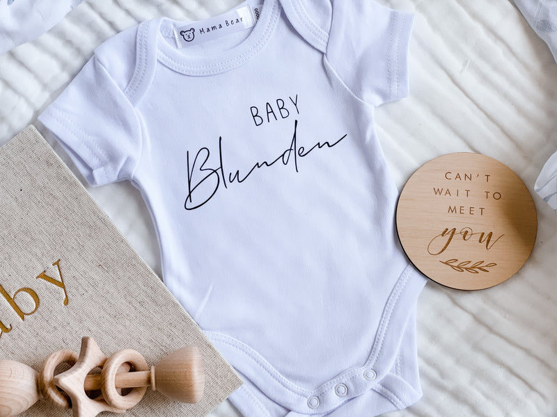 Personalised Baby Announcement Onesie